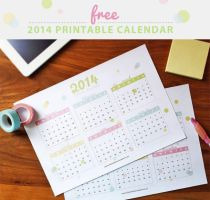 Free Printable 2014 Calendar by ClementineCreative