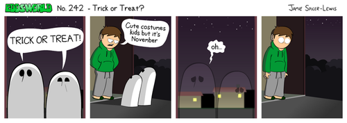 EWCOMIC No. 242 - Trick Or Treat by eddsworld