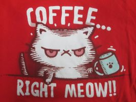 Coffee, right MEOW! by Mr-Pink-Rose