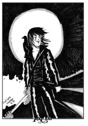 Inktober - The Crow by roelworks