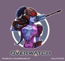 [OVERWATCH] Widowmaker by LaineKeith