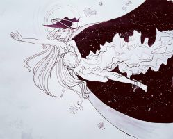 Universe  [Inktober 06] by P0PC