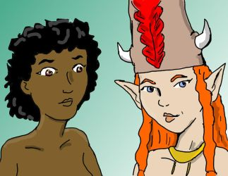 Abui and Adrienne by jay042