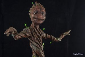 [Garage kit painting #14] Baby Groot statue - 009 by DasArt