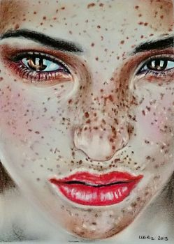 Freckles - soft pastels by UtiliaMignano