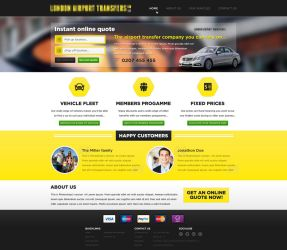 Failed competition design - Taxi website by r-bibb