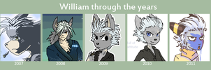 William through the years by griffsnuff