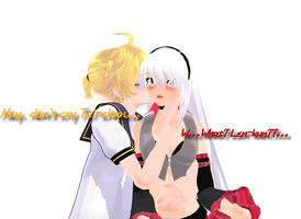 MMD LenXTei  Don't cry Tei-chan~~ by Rachel-Gold-Eyes