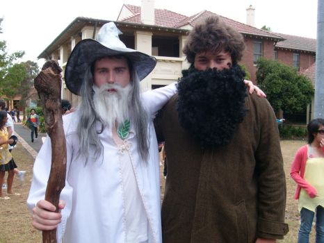 Gandalf and Hagrid by TheBeadle