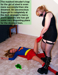 Supergirl loses badly to the Dark Intruder by McGheeny