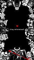Undertale - Stay Determined - Phone Wallpaper by jpax1996