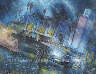 1984 Chevy Monte Carlo Lowrider at Union Station by FastLaneIllustration