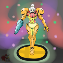Nino as Samus Amiibo [ABDL Content Warning] by NinoSatori