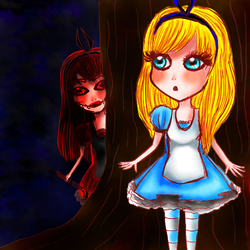 . alice and alice . by blueandpurple-rock