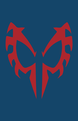 Spider-Man 2099 Mask Minimalist Design by burthefly