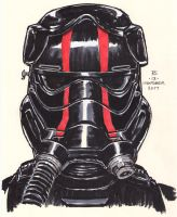 #Inktober pen sketch - First Order Elite TIE Pilot by Robert-Shane