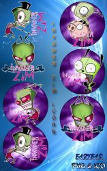 Invader Zim Icons by Michio11