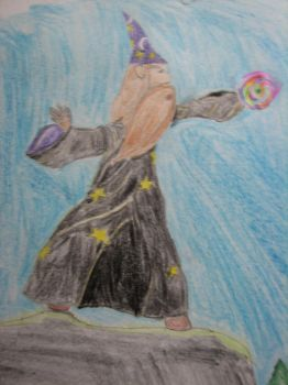 wizard on a cliff by Wabe-Bandersnatch