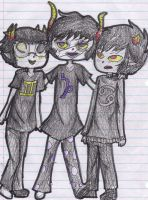 sollux gamzee and karkat by evillovebunny500