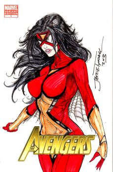 Spiderwoman Sketch Cover Commission by jamietyndall