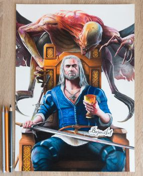 The Witcher 3: Blood and Wine drawing Bajan Art by Bajan-Art