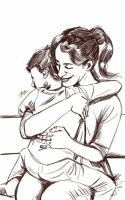 Daily Sketch: Motherly Love by Hunchy