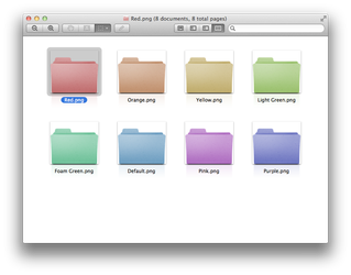 Mac Folders Colors Collection by kndllalx