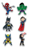 Chibi Super Heroes by Godsartist
