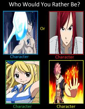 Who you rather be Fairy tail Edition by KeybladeMagicDan