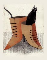 CAT IN SHOES by krecha