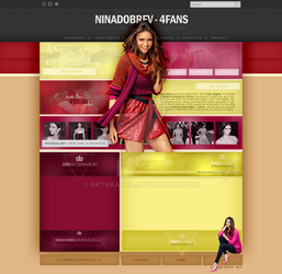 Layout with Nina Dobrev by aktakatka