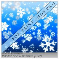 Winter Snow Brushes FOR PSP by Scully7491