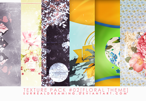 Texture pack #02 [floral theme] by surrealdreaming