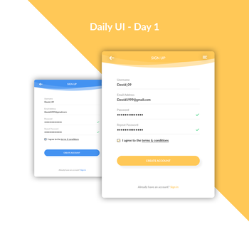Daily UI Challenge - Day 1 by FanBarcelony