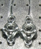 Chainmaille Earring 93 by Des804