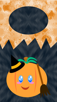 Halloween Pumpkin iPhone Lockscreen 2 by MikariStar