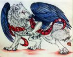 Alexander art trade with CrystlWolf by Suenta-DeathGod