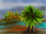 Two Palm Island by teddybearcholla