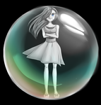 The Impenetrable Bubble by MentalIllnessArt101
