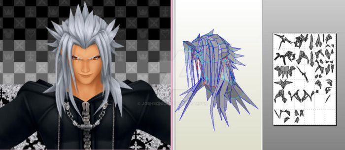 xemnas pepakura file by Joshsonic8