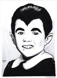 Eddie Munster 11x14 Inkwash Portrait by JesseAcosta