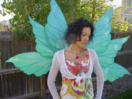 Green Custom Colored Cinderella Fairy Wings by FairyberryBlossoms
