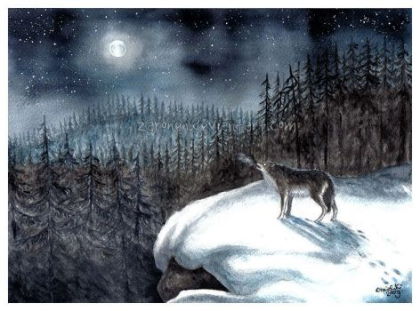 Wolf and the Night by Zaronen