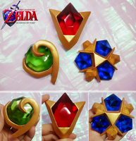3 Spirit Stones from Ocarina of Time by LayzeMichelle