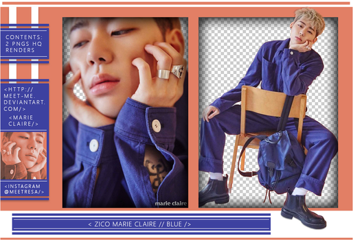 ZICO X MARIE CLAIRE | RENDERS // 2 HQ PNGS by Meet-Me