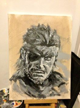 Naked Snake / Big Boss WiP by mad-dragon249