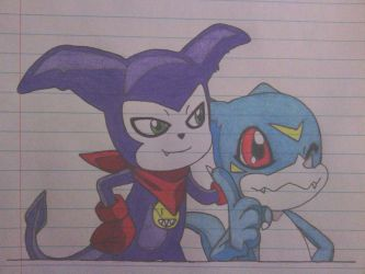 Impmon And Veemon: Brothers From Other Tamers by ShiftyGuy1994