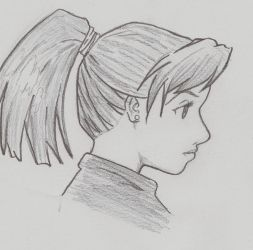 drawing in profile by MyaWho