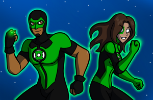 Green Lanterns - Simon and Jessica by AraghenXD