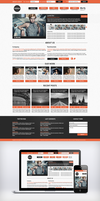 Themax freebie psd template by JakubSpitzer